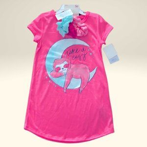 """4G So Pink Sloth """"Take it easy"""" Nightgown"""